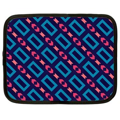 Rectangles and other shapes pattern Netbook Case (Large)