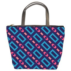 Rectangles and other shapes pattern Bucket Bag