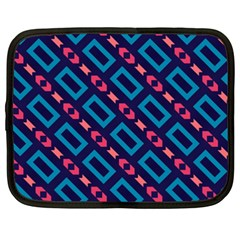 Rectangles and other shapes pattern Netbook Case (XXL)