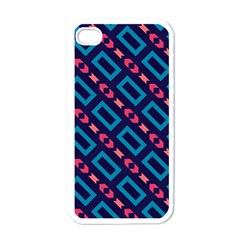 Rectangles and other shapes pattern Apple iPhone 4 Case (White)