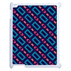 Rectangles And Other Shapes Pattern Apple Ipad 2 Case (white)