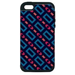 Rectangles and other shapes pattern Apple iPhone 5 Hardshell Case (PC+Silicone)