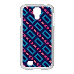 Rectangles and other shapes pattern Samsung GALAXY S4 I9500/ I9505 Case (White)