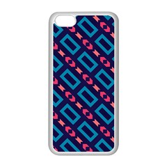 Rectangles and other shapes pattern Apple iPhone 5C Seamless Case (White)