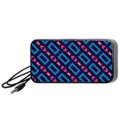 Rectangles and other shapes pattern Portable Speaker