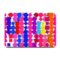 Colorful squares Small Doormat