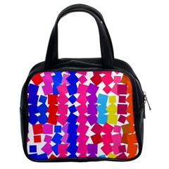 Colorful squares Classic Handbag (Two Sides)