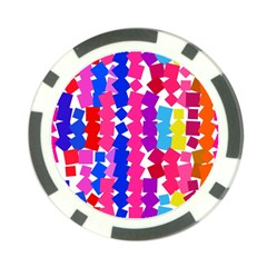 Colorful squares Poker Chip Card Guard (10 pack)