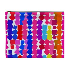 Colorful squares Cosmetic Bag (XL)