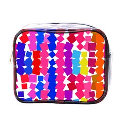 Colorful squares Mini Toiletries Bag (One Side)