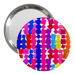 Colorful squares 3  Handbag Mirror