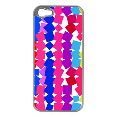 Colorful squares Apple iPhone 5 Case (Silver)