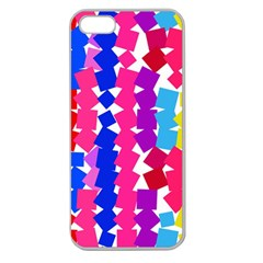 Colorful squares Apple Seamless iPhone 5 Case (Clear)