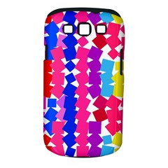 Colorful squares Samsung Galaxy S III Classic Hardshell Case (PC+Silicone)