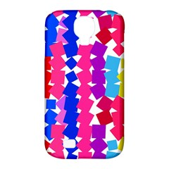 Colorful squares Samsung Galaxy S4 Classic Hardshell Case (PC+Silicone)