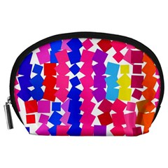 Colorful squares Accessory Pouch