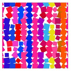 Colorful Squares Satin Scarf