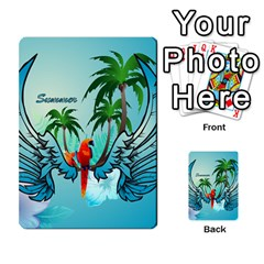 Summer Design With Cute Parrot And Palms Multi-purpose Cards (Rectangle)