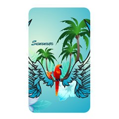 Summer Design With Cute Parrot And Palms Memory Card Reader