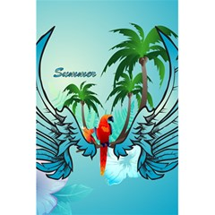Summer Design With Cute Parrot And Palms 5 5  X 8 5  Notebooks