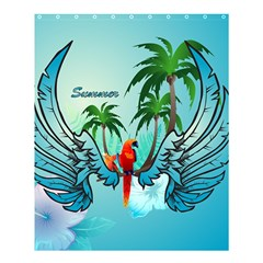 Summer Design With Cute Parrot And Palms Shower Curtain 60  X 72  (medium)