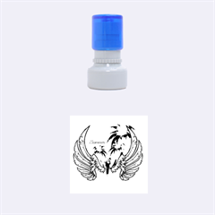 Summer Design With Cute Parrot And Palms Rubber Round Stamps (small)