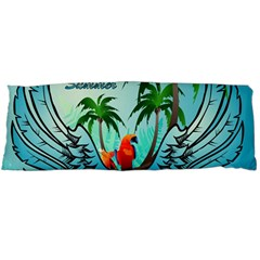 Summer Design With Cute Parrot And Palms Body Pillow Cases (dakimakura)