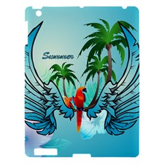 Summer Design With Cute Parrot And Palms Apple iPad 3/4 Hardshell Case