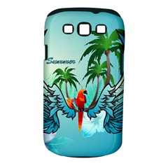 Summer Design With Cute Parrot And Palms Samsung Galaxy S III Classic Hardshell Case (PC+Silicone)