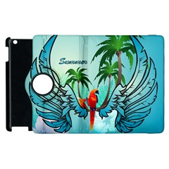 Summer Design With Cute Parrot And Palms Apple iPad 3/4 Flip 360 Case