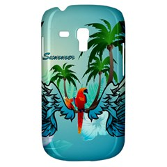 Summer Design With Cute Parrot And Palms Samsung Galaxy S3 MINI I8190 Hardshell Case
