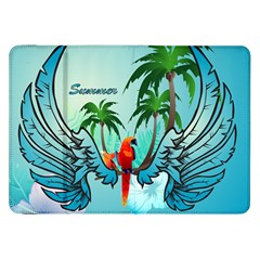 Summer Design With Cute Parrot And Palms Samsung Galaxy Tab 8.9  P7300 Flip Case