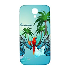Summer Design With Cute Parrot And Palms Samsung Galaxy S4 I9500/i9505  Hardshell Back Case