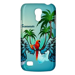 Summer Design With Cute Parrot And Palms Galaxy S4 Mini