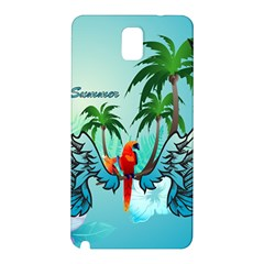 Summer Design With Cute Parrot And Palms Samsung Galaxy Note 3 N9005 Hardshell Back Case