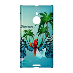 Summer Design With Cute Parrot And Palms Nokia Lumia 1520