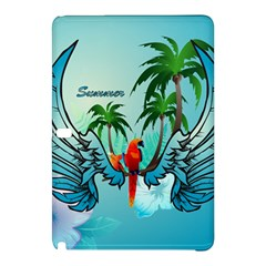 Summer Design With Cute Parrot And Palms Samsung Galaxy Tab Pro 10 1 Hardshell Case