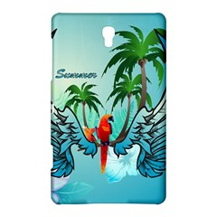 Summer Design With Cute Parrot And Palms Samsung Galaxy Tab S (8.4 ) Hardshell Case