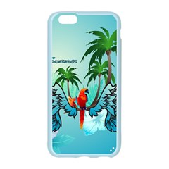 Summer Design With Cute Parrot And Palms Apple Seamless iPhone 6/6S Case (Color)