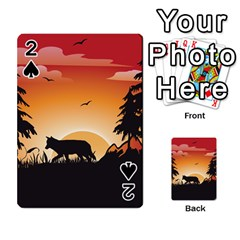 The Lonely Wolf In The Sunset Playing Cards 54 Designs