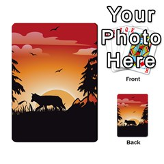 The Lonely Wolf In The Sunset Multi-purpose Cards (Rectangle)