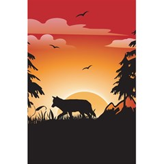 The Lonely Wolf In The Sunset 5 5  X 8 5  Notebooks