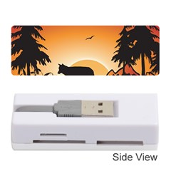 The Lonely Wolf In The Sunset Memory Card Reader (Stick)