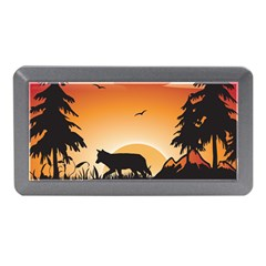 The Lonely Wolf In The Sunset Memory Card Reader (Mini)