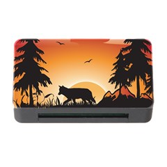 The Lonely Wolf In The Sunset Memory Card Reader With Cf
