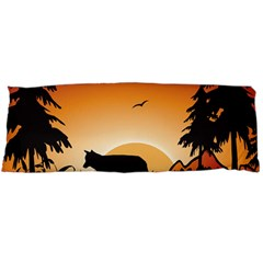 The Lonely Wolf In The Sunset Body Pillow Cases (Dakimakura)