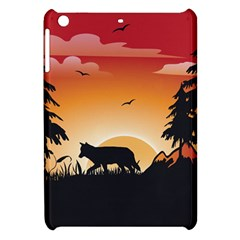 The Lonely Wolf In The Sunset Apple iPad Mini Hardshell Case