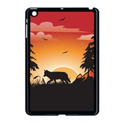 The Lonely Wolf In The Sunset Apple iPad Mini Case (Black)