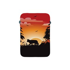 The Lonely Wolf In The Sunset Apple iPad Mini Protective Soft Cases