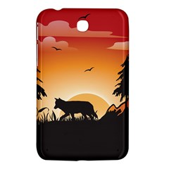 The Lonely Wolf In The Sunset Samsung Galaxy Tab 3 (7 ) P3200 Hardshell Case